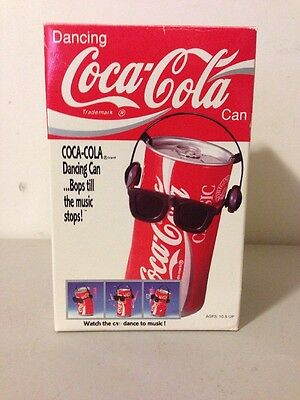 Vintage Dancing Coca Cola Can With Sunglasses 1991 in the box