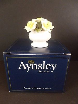 Aynsley Bone China Flower of the Month Floral Ornament Daffodil New & Boxed