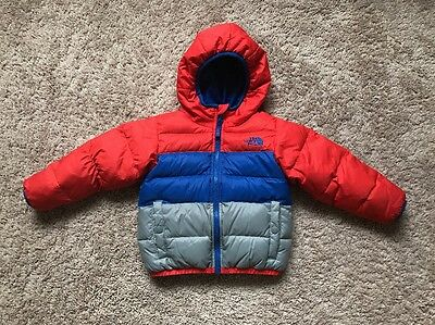 The North Face Toddler Boys Moondoggy Reversible 550 Down Hood Jacket, 3T, Great