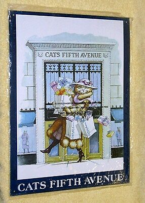 Cute Metal Cats Fifth Ave Sign