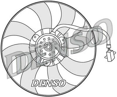 DENSO ENGINE COOLING Fan DER32007 Replaces 6Q0959455N 85549