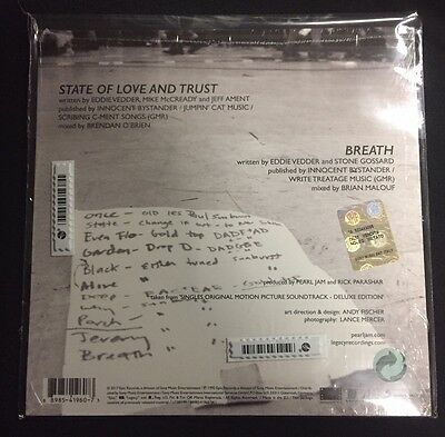 """Pearl JAM State of Love and Trust - 7"""" Vinyl Single RSD 2017 - mint sealed"""