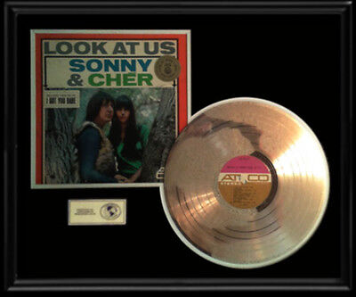 Sonny And & Cher Look At Us  Lp Gold Record Disc Lp I Got You Babe Album Rare!!