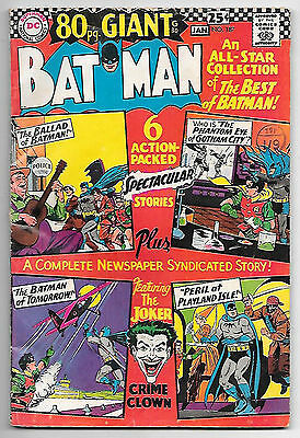 Batman #187 (1966; 80pg Giant G-30; fn+ 6.5) Guide value: $36.00 (£27.50)