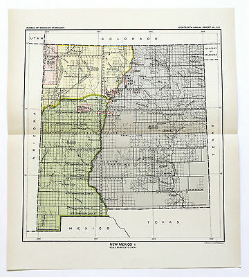 1899 NEW MEXICO Ceded Indian Land Native American Territory Cessions Original
