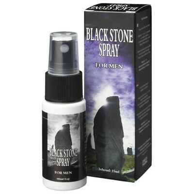 8717344170338 SPRAY RITARDANTE BLACK STONE 15ml per uomo