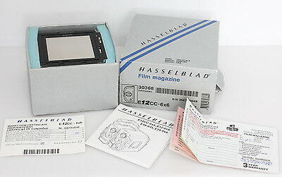 Hasselblad E12CC 30368 6X6 CHROME FILM BACK W/ BOX MINT