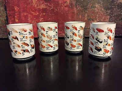 "4 Japanese Ceramic H4"" 32 pieces of Sushi Green Tea Juice Mug Cup Made in Japan"