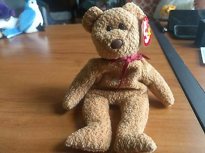 TY Curly Beanie Baby Rare with MANY misspellings