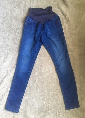 NWOT OLD NAVY Maternity Rockstar Jeans SKINNY Smooth Full-Panel Dark Wash Size 4
