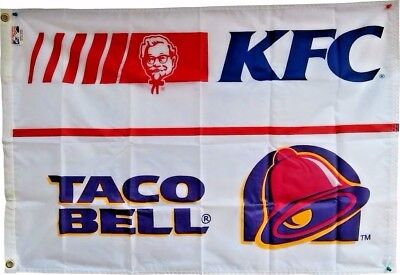 Vintage KFC/Taco Bell Flag from 1980's