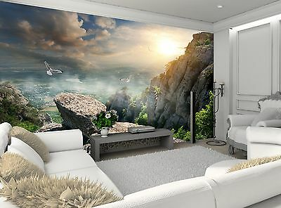 Birds and Rocks  Wall Mural Photo Wallpaper GIANT WALL DECOR Paper Poster