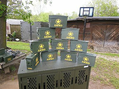 10...military Surplus 7.62Mm Ammo Cans Tool Box Hunting Camping Tent Stakes Army