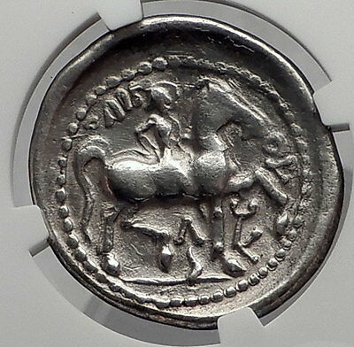 Celtic Eastern Europe Silver TetraDrachm as Greek Philip II Coin NGC VF i61201