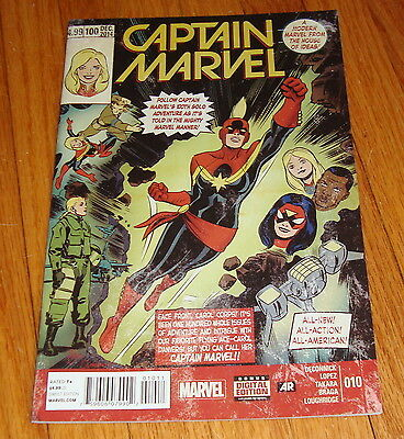 2014 Captain Marvel #10 1st Print Kelly Sue DeConnick 100th Issue