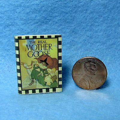 Dollhouse Miniature Replica Book of The Real Mother Goose ~ Large