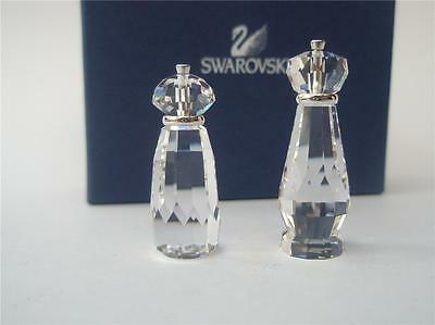Swarovski Silver Crystal Pair Of Salt And Pepper Mills New Retired Mib Was $88