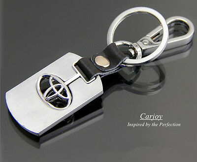 Toyota Keyrings Car Key Chain Leather Metal Alloy key ring best Quality TOYOTA