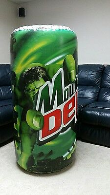 Hulk Movie Inflatable Store Display 2003 Mt Dew Can Huge 4 Foot Tall Rare