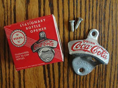 Vintage Coca Cola Stationary Bottle Opener W Original Box The Starr X Brown Mfg