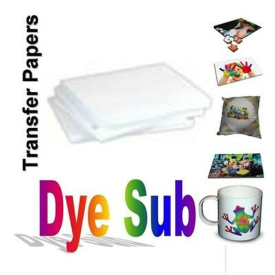 "100 Sheets A (8.5"" x 11"") Sublimation Ink Heat Transfer Paper Inkjet Printer"