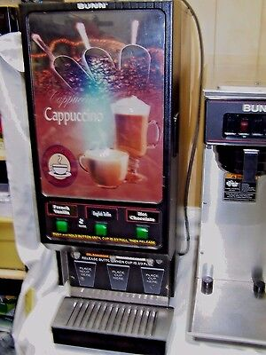 Bunn Commercial 3 Button Cappuccino Dispensor /All 3 Motors Work & Lights Up!