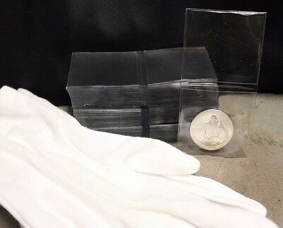 100 2x2 Coin Holder TCDC Submission Flip Non Vinyl Case + Large Inspection Glove