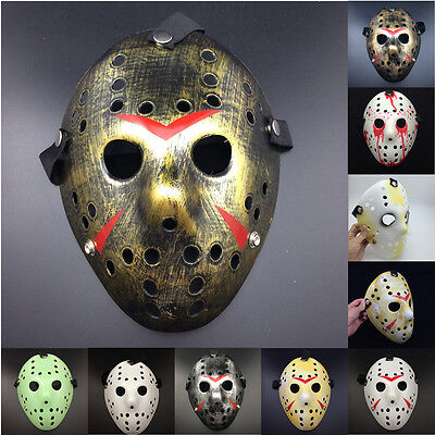 Halloween Jason vs Freddy The 13th Prop Horror Masquerade Cosplay Party Mask