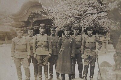 WW2 Japanese photo Officers sword greatcoat cap