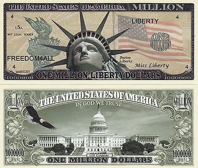 Novelty Note / Fun Money -  MISS LIBERTY / 1 MILLION LIBERTY DOLLARS - *neu*