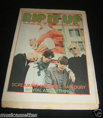 New Zealand Music Magazine Screaming Meemees Ian Dury Mental As Anything 1981