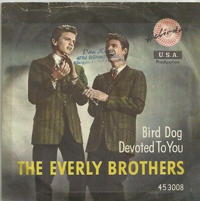The Everly Brothers - Bird Dog / Devoted To You (Vinyl-Single 1958) !!!