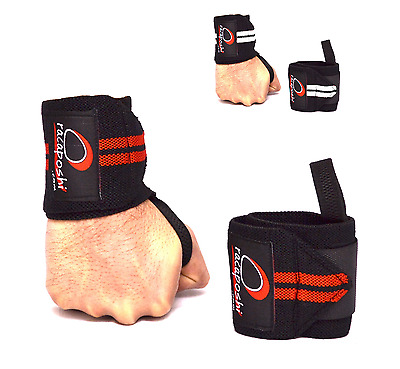 "Racaposhi.com® 15"" Heavy Duty Weight Lifting Strong Wrist Wraps Straps Support"