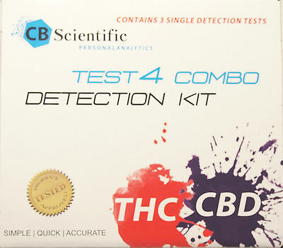 Cannabis Marijuana CBD & THC Test Kit for  potency  COMBO 3 TEST of  EACH