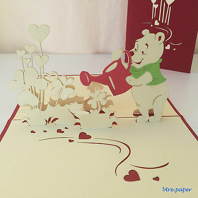 wedding birthday get well thanks pop up 3D card greeting card gift card