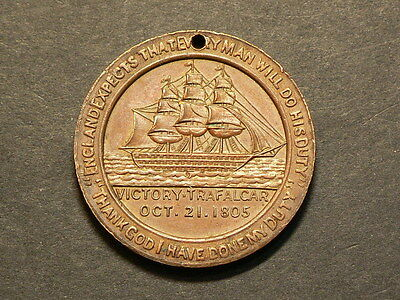 Ottawa 1905, Centenary Of The Battle Of Trafalgar Bronze Medal,  #G4720