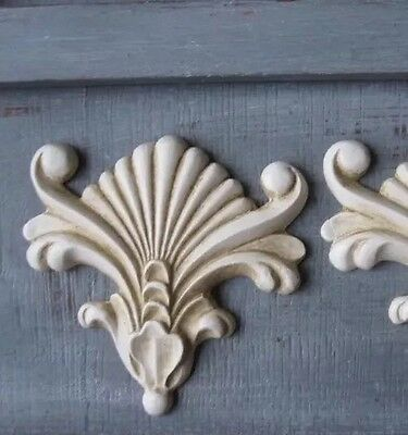 1x Shabby Chic Corner French Furniture Moulding Furniture Applique Carving Onlay