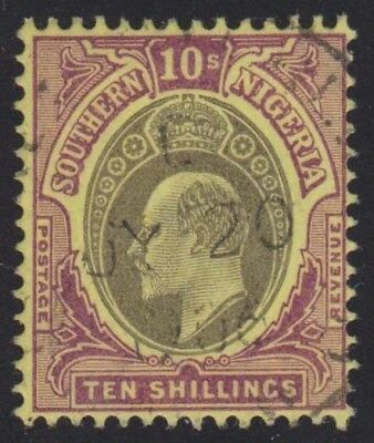 SOUTHERN NIGERIA KEVII 1903-04 Issue 10 Shillings SG19  Used cv £150