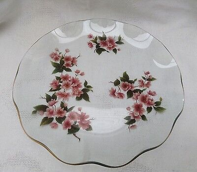 """Vintage Chance """"Blossom"""" Glass Plate"""