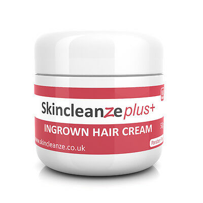 Skincleanze PLUS Ingrown Hair Treatment Cream Razor Bumps Shaving Rash 1 x 50g