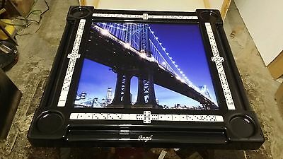New York Manhattan Bridge Skyline Domino Tables by Art with your Name