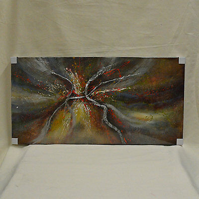 "Original Abstract Modern Oil Painting on Canvas 24""X48"" Home Deco Wall Art"