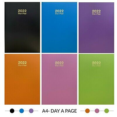2018 A5/A4 Size Week to View /Day To Page Hard Back Case Bound Diary