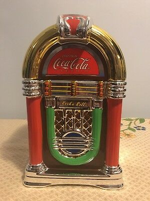 Gibson Coca Cola Retro Rockin' Roll Jukebox Cookie Jar Canister 2002 Ad