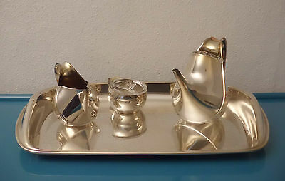 "ALESSI Tee-Service - versilbert - Design OSCAR TUSQUETS ""PIAZZA"" silver plated"