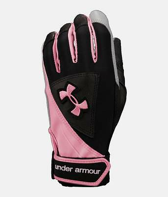 Under Armour Laser Ii Women's Softball Batting Gloves- 1200203-001 Msrp $35