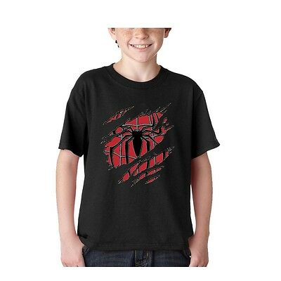 Kids Summer Casual Spiderman costume T shirt short sleeve child clothes Tee top