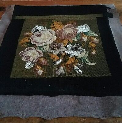 antique, vintage bead and wool tapestry piece