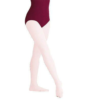 Body Wrappers Women's Theatrical Pink Footed Tights - 1X/2X