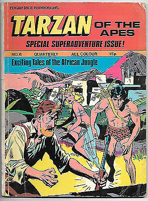 Tarzan of the Apes Quarterly #6 (1973 Williams UK; fn 6.0)